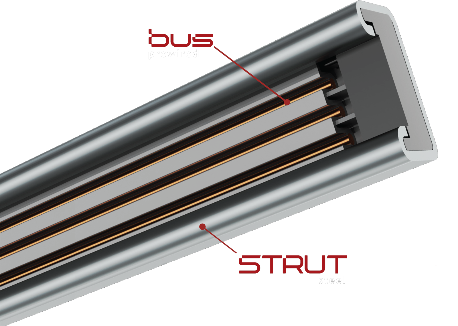 BusSTRUT - One System that bridges the gap between architectural and electro-mechanical systems.